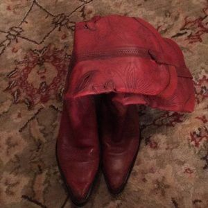 Shoes - Super cute red cowgirl boots